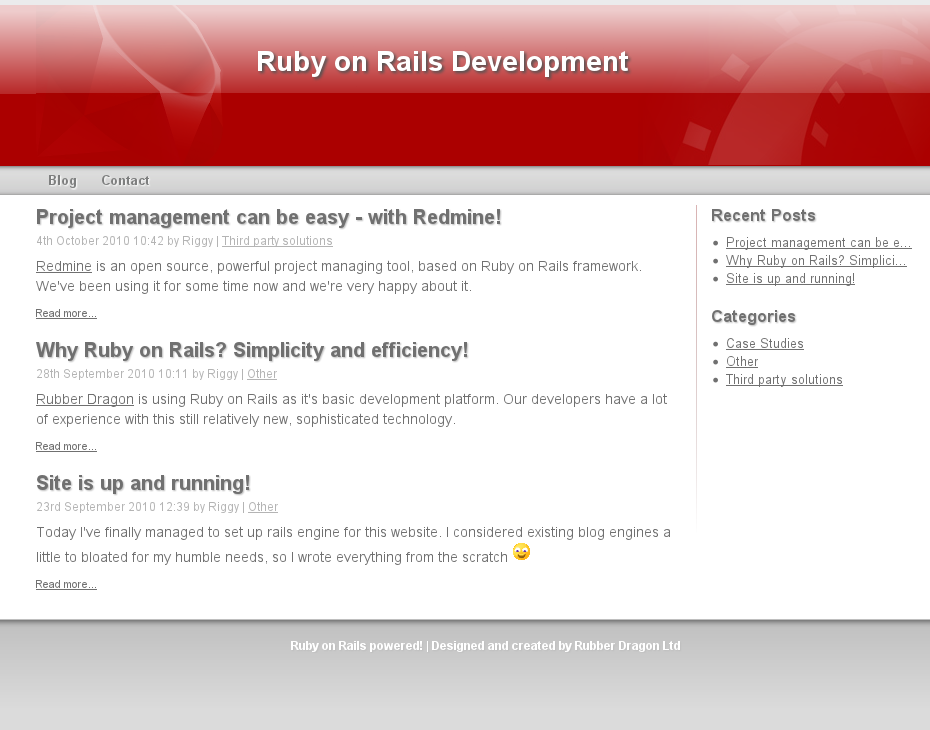 ruby on rails projects Rails examples, tutorials, starter apps website and repository for open source ruby on rails applications.